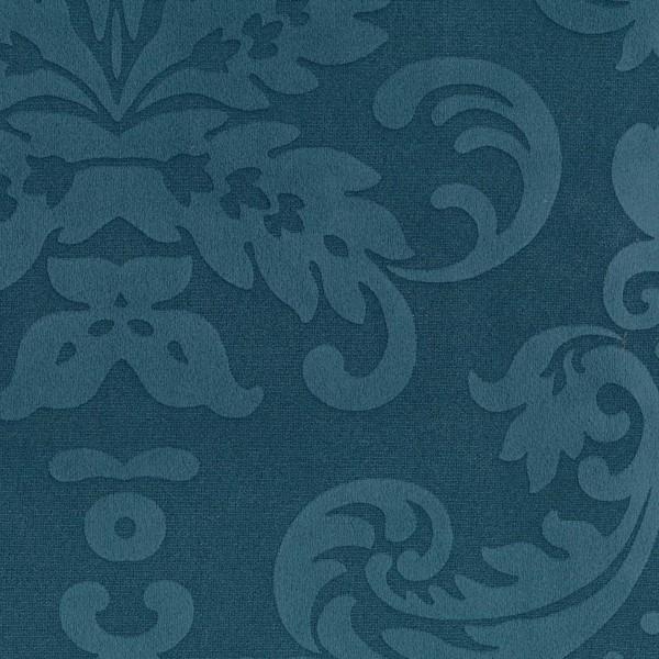 Stoff mit Ornamenten und Fleckschutz Azurblau
