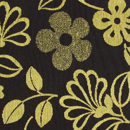 Stoff mit Blumen-Muster GL2 grün