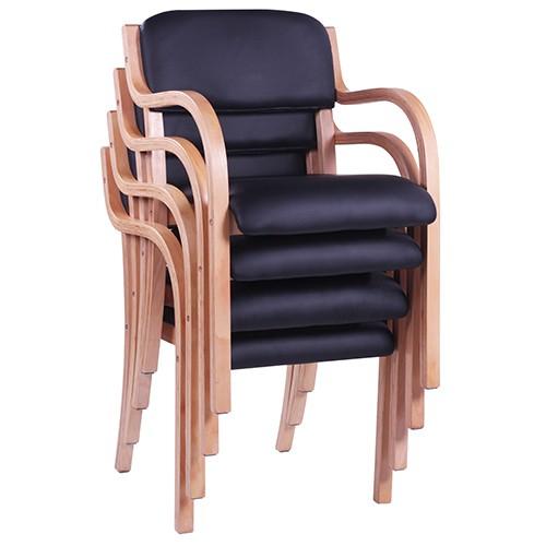Armlehnstuhl Besucherstuhl JANA aus gebogenem Buche-Schichtholz