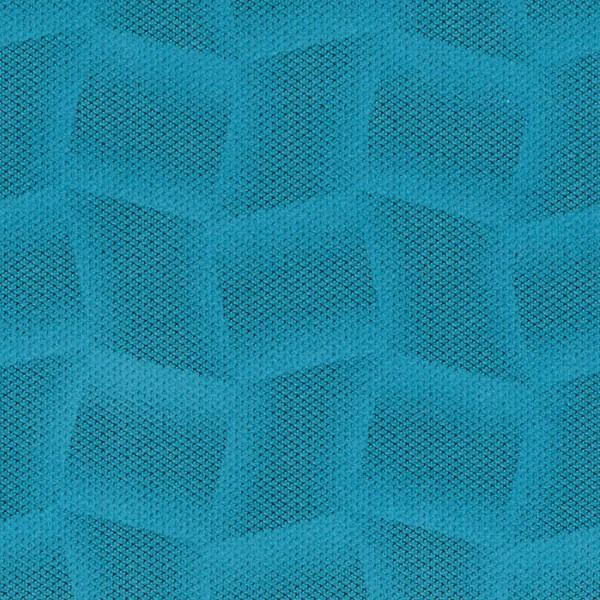 Mikrofaser-Stoff mit attraktiven geometrischen Mustern blau