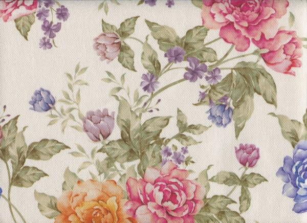Stoff mit Blumen-Muster FLORA0133 rosenmix