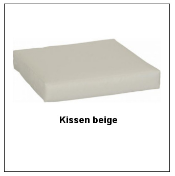Sitzkissen (lose) in beige, 3 cm stark