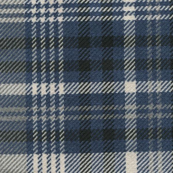 Möbelbezug Karostoff | Polsterstoff mit Karo Muster SCT05 blau-beige