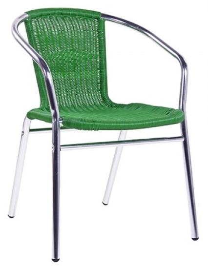 Outdoor-Stuhl KIR grün - stapelbar