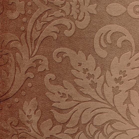Stoff mit floralen Ornamenten BD84 dunkelbraun