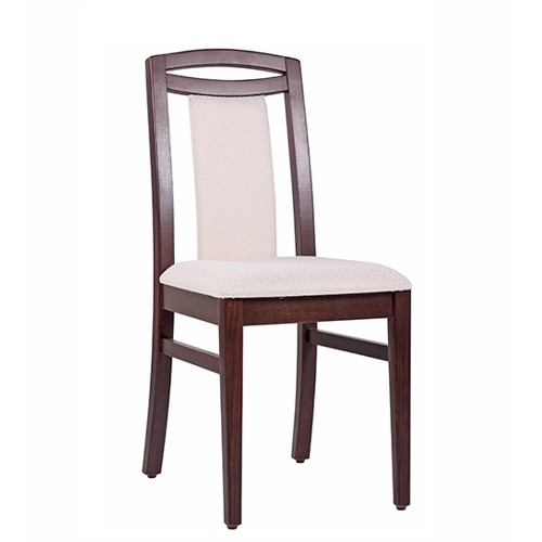 Restaurantstuhl Stuhl Gastronomie ANJA Stoff mit Rauten-Muster SR101 beige