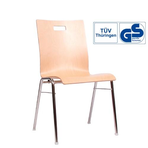 Holzschalenstuhl / Stapelstuhl COMBISIT A40G