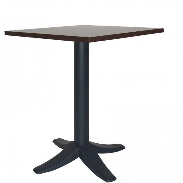 moderner Metalltisch PETRA mit Tischplatte aus Melamin