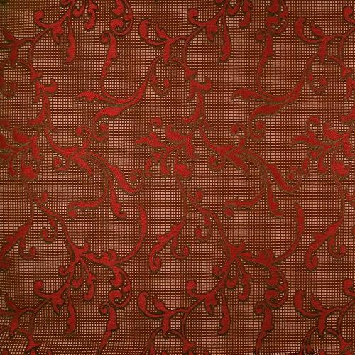 Stoff mit floralem Muster SFP3002 weinrot