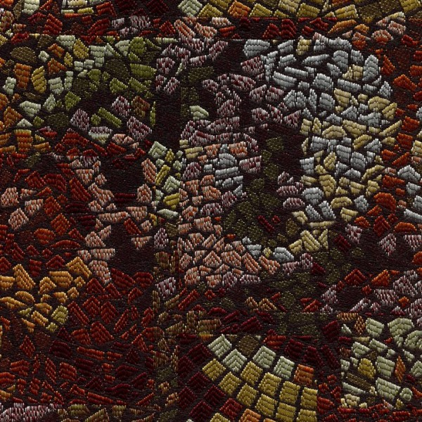 Stoff mit Mosaikmuster multicolor