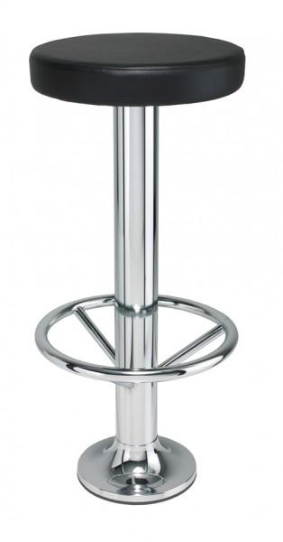 Metallbarhocker NAVEX mit gepolstertem Sitz für Bodenmontage