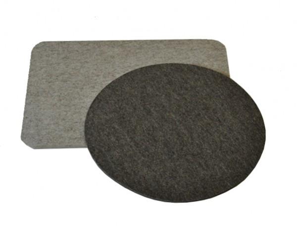 Stuhlsitz Auflage Wollfilz rund oder eckig