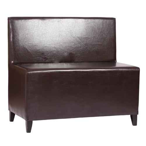 2-Sitzer Polsterbank MICA 2 RL nussbaum dunkel - KB2MS antikbraun
