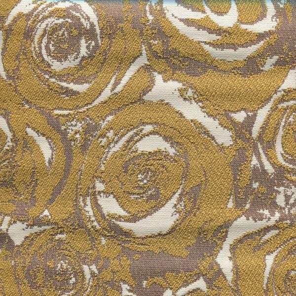 Stoff mit Rosenmotiven ARN437 SafeTex mustard-beige