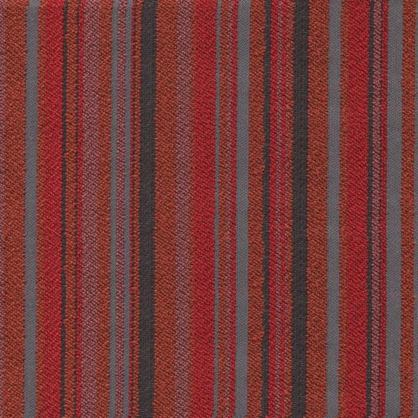 Stoff mit Blockstreifen LUT439 SafeTex rot-grau-anthrazit
