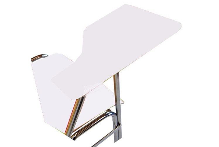 Schreibplatte mit HPL-Laminatfurnier (11 mm stark) weiß